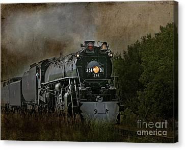 Steam Engine 261 Canvas Print