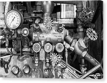 Steam Engine Controls Canvas Print