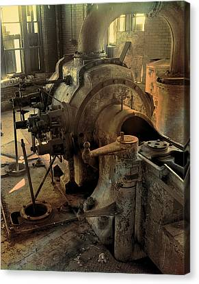 Canvas Print featuring the digital art Steam Engine No 4 by Robert G Kernodle