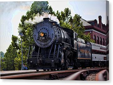 Steam Engine Of Cumberland Canvas Print by Christina Durity