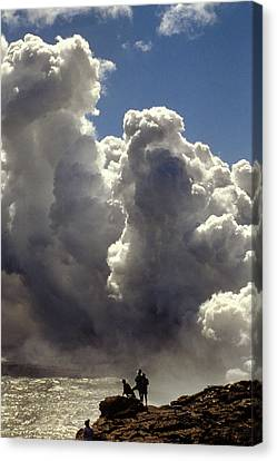 Canvas Print featuring the photograph Steam From Hot Lava by Carl Purcell