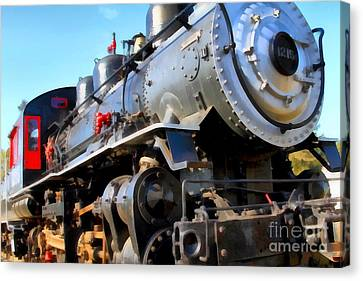 Steam Locomotive Engine 1215 . 7d12980 Canvas Print by Wingsdomain Art and Photography