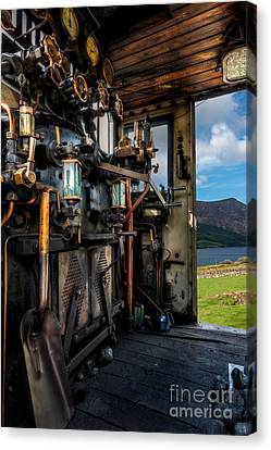 Steam Locomotive Footplate Canvas Print by Adrian Evans