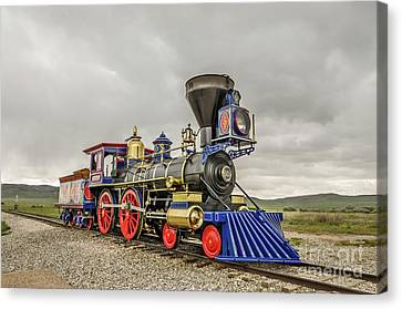 Canvas Print featuring the photograph Steam Locomotive Jupiter by Sue Smith