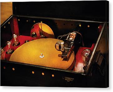 Steam Punk - Hey Dj Make Some Noise Cine-music System Canvas Print by Mike Savad