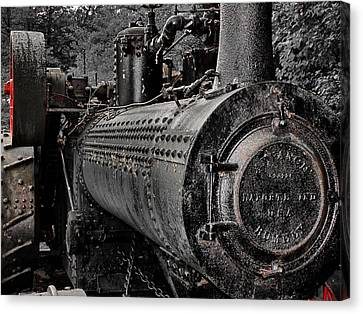 Steam Tractor Canvas Print by Scott Hovind