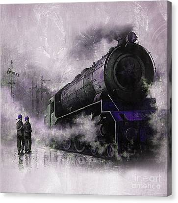 The Bowery Canvas Print - Steam Train Art 56u by Gull G