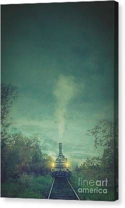 Old Country Roads Canvas Print - Steam Train by Mythja Photography