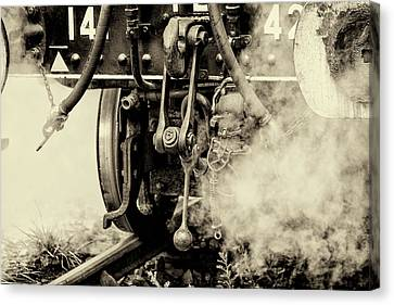 Steam Train Series No 3 Canvas Print by Clare Bambers