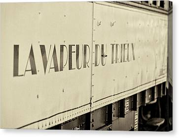 Canvas Print featuring the photograph Steam Train Series No 34 by Clare Bambers