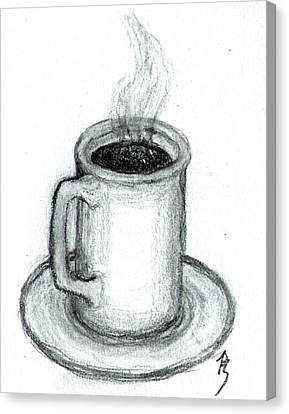 Steaming Cup Of Coffee Canvas Print by Bob Schmidt