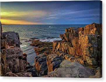 Canvas Print featuring the photograph Steaming Past The Giant's Stairs by Rick Berk