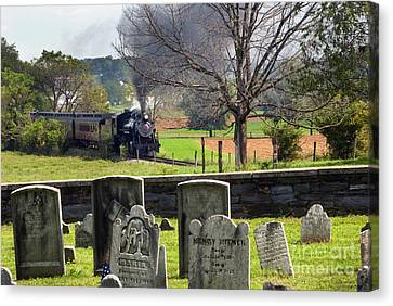 Paul Faust Canvas Print - Steaming Past The Old Amish Cemetery by Paul W Faust -  Impressions of Light