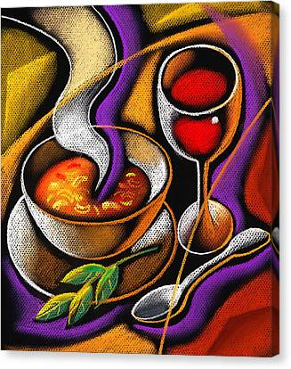 Steaming Supper Canvas Print by Leon Zernitsky