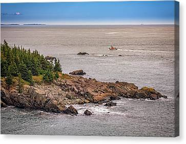 Quoddy Canvas Print - Steaming Through Quoddy Narrows by Rick Berk