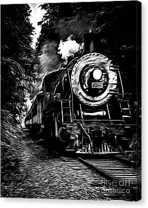 Steaming Through The Pass Canvas Print