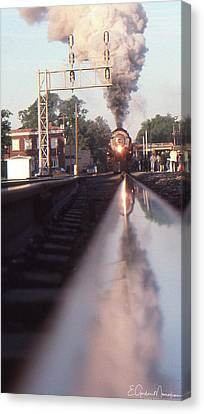Steaming Up Canvas Print