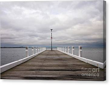 Canvas Print featuring the photograph Steampacket Quay by Linda Lees