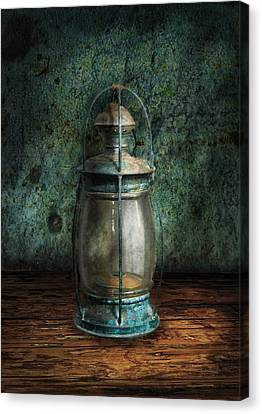 Steampunk - An Old Lantern Canvas Print by Mike Savad