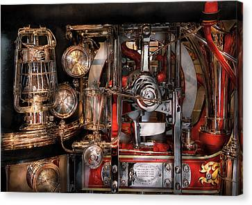 Steampunk - Check The Gauges  Canvas Print by Mike Savad