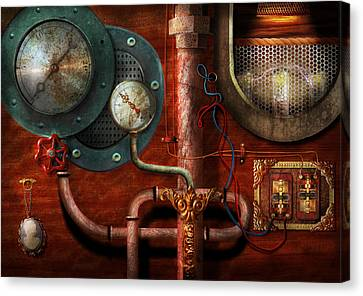 Steampunk - Controls Canvas Print by Mike Savad