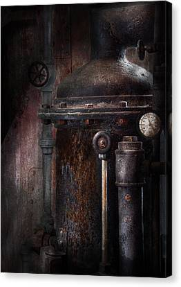 Steampunk - Handling Pressure  Canvas Print by Mike Savad