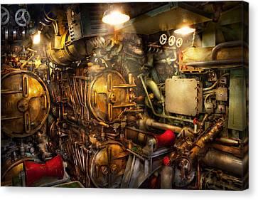Steampunk - Naval - The Torpedo Room Canvas Print by Mike Savad