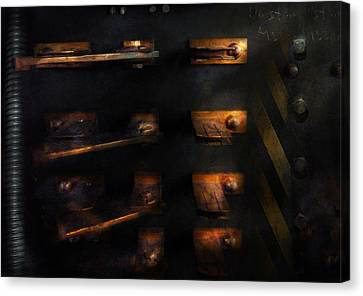Steampunk - Pull The Switch Canvas Print by Mike Savad