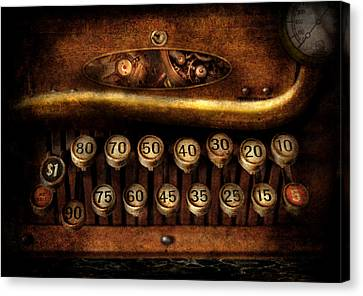 Steampunk - Remuneration Mechanism Canvas Print by Mike Savad