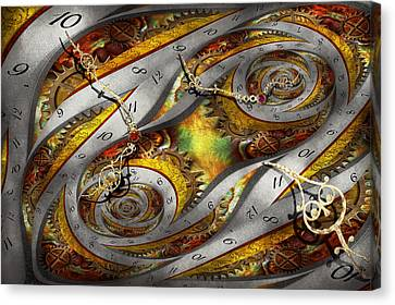 Steampunk - Spiral - Space Time Continuum Canvas Print by Mike Savad