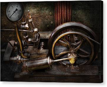 Steampunk - The Contraption Canvas Print by Mike Savad