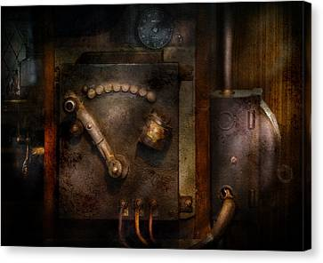 Steampunk - The Control Room  Canvas Print by Mike Savad