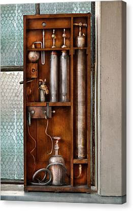 Steampunk - The Invention  Canvas Print by Mike Savad