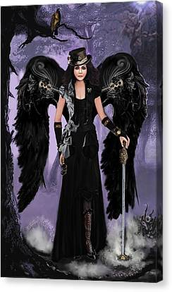 Steampunk Angel Canvas Print by Melodye Whitaker