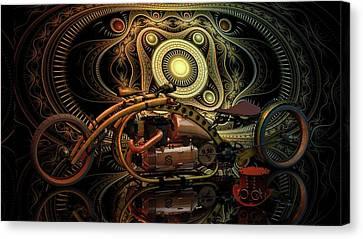 Canvas Print featuring the photograph Steampunk Chopper by Louis Ferreira