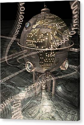 Steampunk Data Hub Canvas Print by Keith Kapple