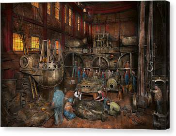 Steampunk - Final Inspection 1915 Canvas Print by Mike Savad
