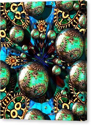 Steampunk Fractal 71216.4 Canvas Print