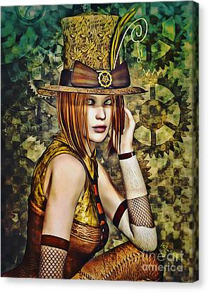 Female Canvas Print - Steampunk Girl Two by Alicia Hollinger