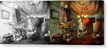 Steampunk - Hall Of Wonderment 1908 - Side By Side Canvas Print