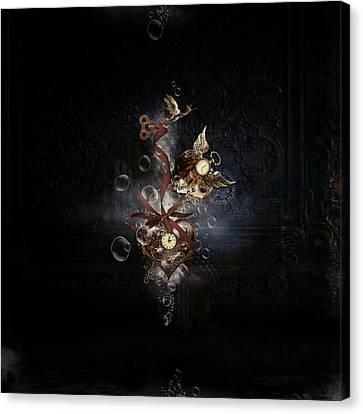 Steampunk Hearts Canvas Print