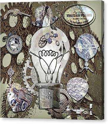 Mechanization Canvas Print - Steampunk Ideation 2 by Steve Ohlsen