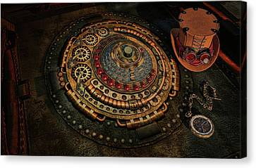 Canvas Print featuring the photograph Steampunk by Louis Ferreira