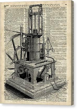 Steampunk Machine Canvas Print by Jacob Kuch
