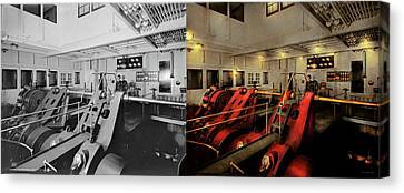 Steampunk - Man The Controls 1908 - Side By Side Canvas Print