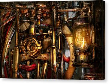Steampunk - Mechanica  Canvas Print by Mike Savad
