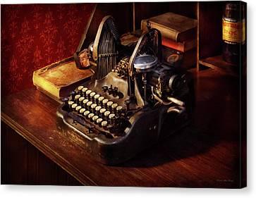 Steampunk - Oliver's Typing Machine Canvas Print
