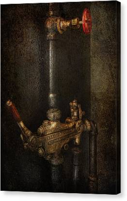 Steampunk - Plumbing - Number 4 - Universal  Canvas Print by Mike Savad
