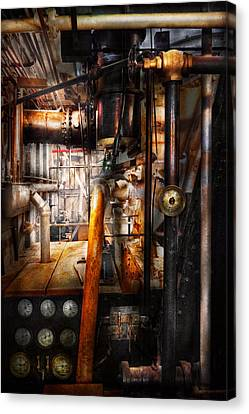 Steampunk - Plumbing - Pipes Canvas Print by Mike Savad