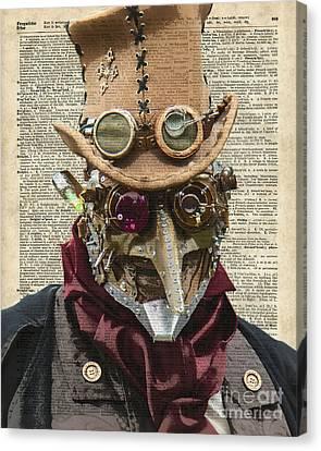 Steampunk Robot Canvas Print by Jacob Kuch
